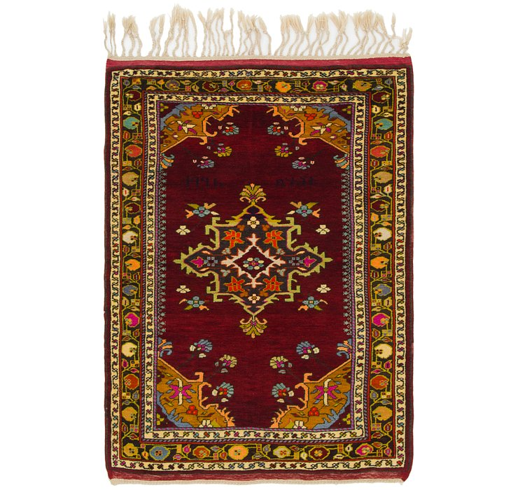 3' 4 x 4' 8 Anatolian Oriental Rug