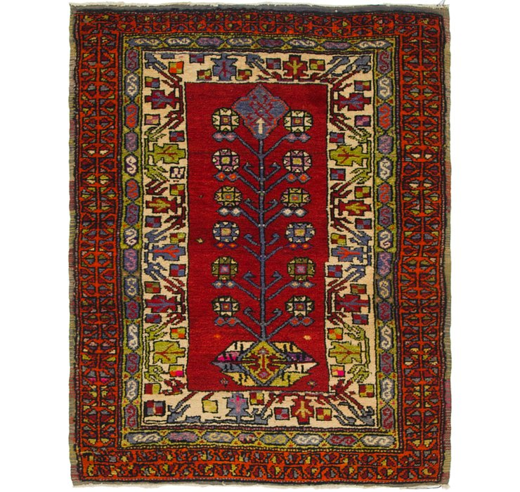 HandKnotted 3' x 4' Anatolian Oriental Rug