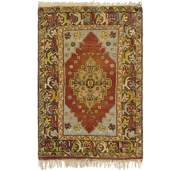 HandKnotted 3' 7 x 5' 6 Anatolian Oriental Rug