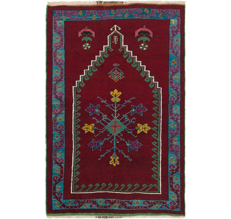 3' 4 x 5' 3 Anatolian Oriental Rug