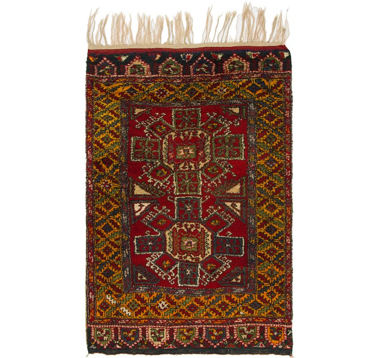 4' 2 x 6' 10 Anatolian Rug