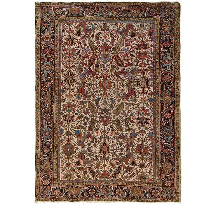 7' 8 x 10' 2 Heriz Persian Rug