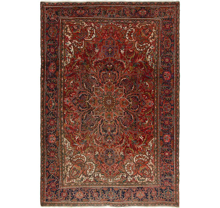 8' x 11' 7 Heriz Persian Rug