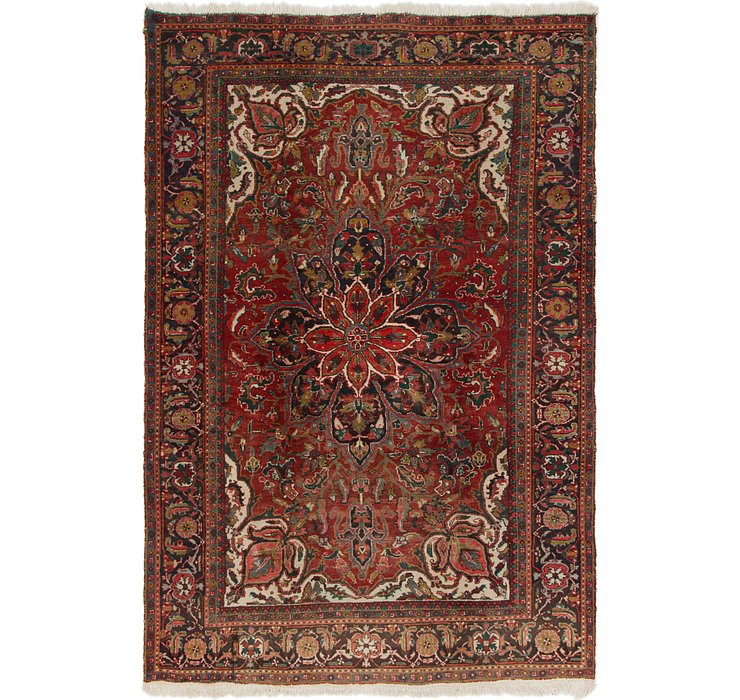 7' 4 x 11' Heriz Persian Rug