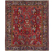 Link to 7' 7 x 8' 9 Heriz Persian Square Rug