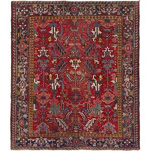 230cm x 267cm Heriz Persian Square Rug
