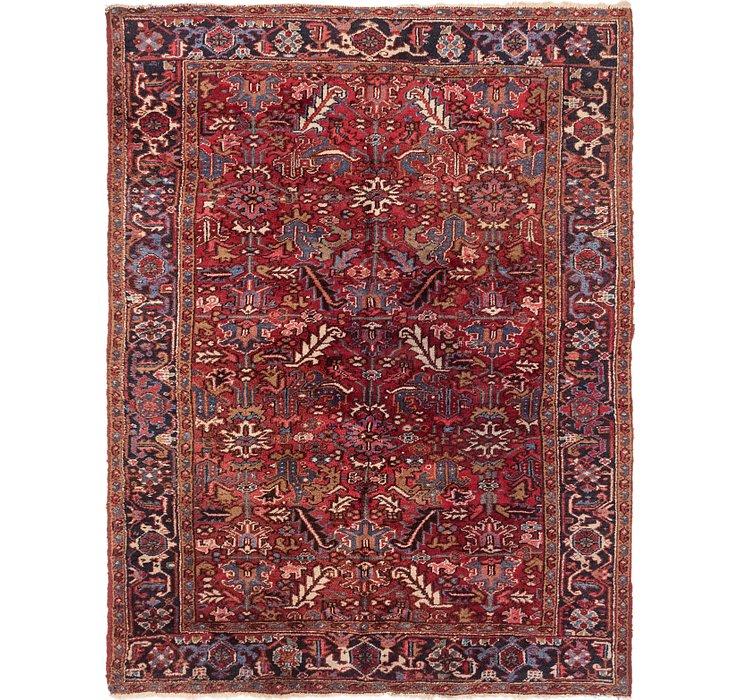 7' x 9' 2 Heriz Persian Rug