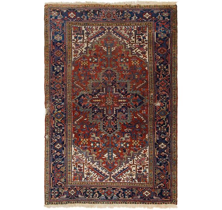 6' 2 x 9' 4 Heriz Persian Rug