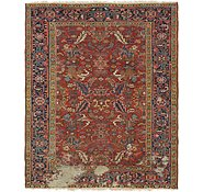 Link to 6' 10 x 8' 2 Heriz Persian Square Rug