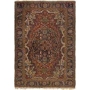 HandKnotted 6' 8 x 10' Heriz Persian Rug