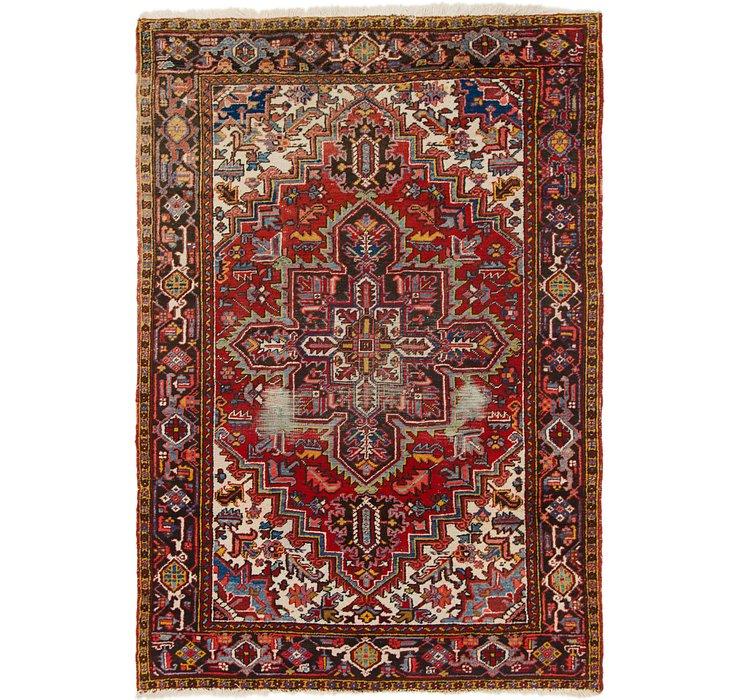 6' 4 x 9' 2 Heriz Persian Rug