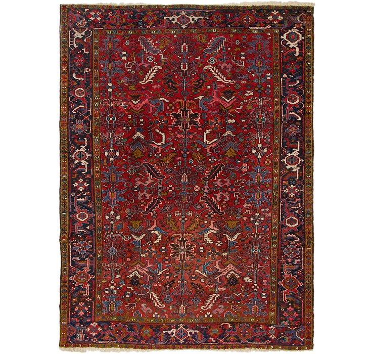 7' 7 x 9' 9 Heriz Persian Rug