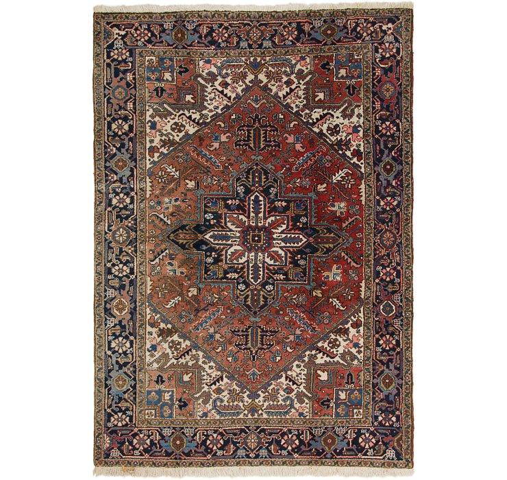 193cm x 270cm Heriz Persian Rug