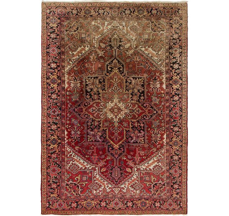 6' 9 x 9' Heriz Persian Rug
