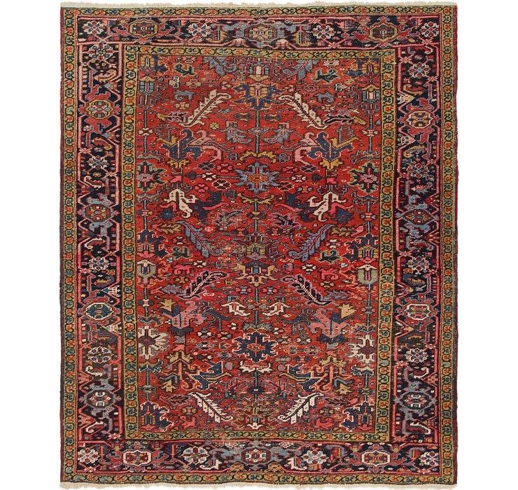 7' 3 x 8' 8 Heriz Persian Square Rug