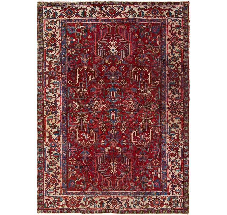 6' 4 x 8' 10 Heriz Persian Rug