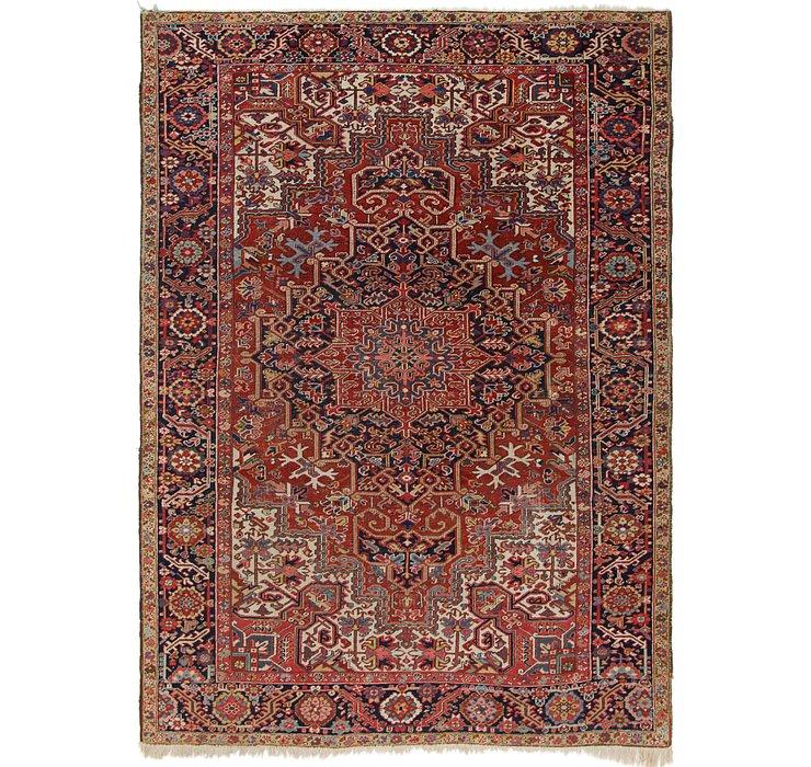 7' 7 x 10' 5 Heriz Persian Rug