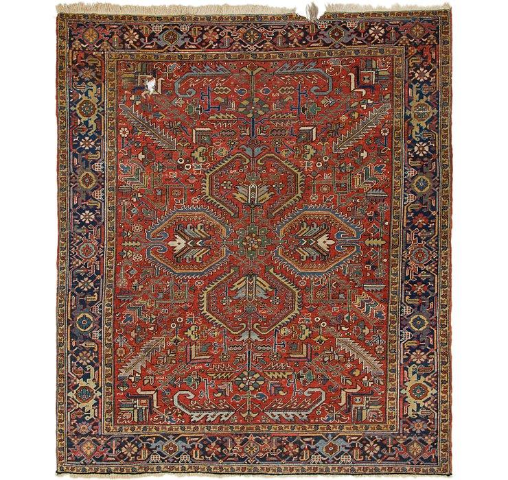 8' 3 x 9' 7 Heriz Persian Rug