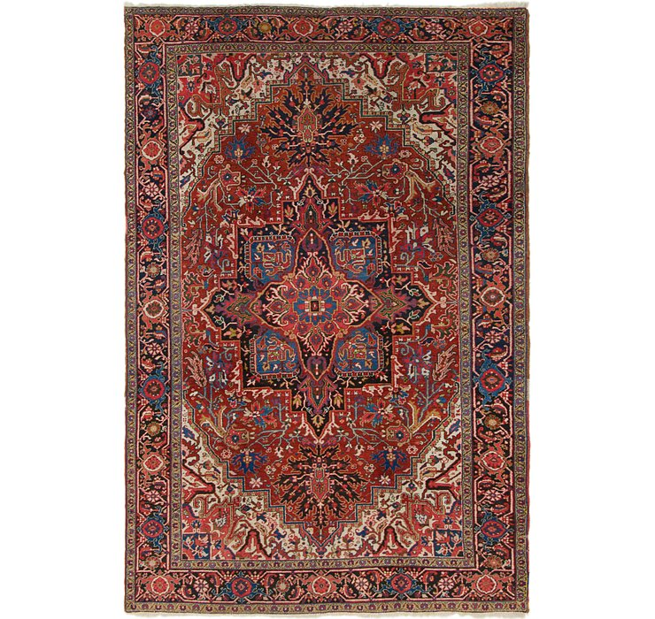 7' x 10' 10 Heriz Persian Rug