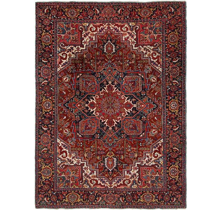 8' 7 x 11' 6 Heriz Persian Rug