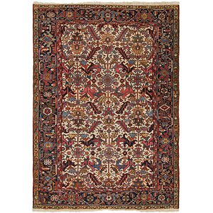 7' 2 x 10' Heriz Persian Rug