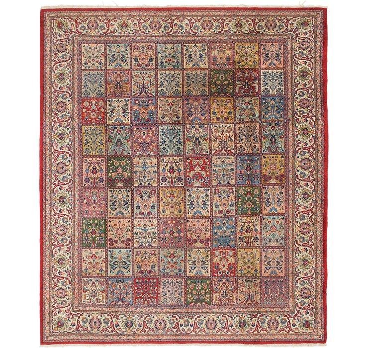 9' 10 x 11' 6 Sarough Persian Square ...