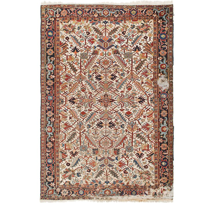7' 6 x 11' 2 Heriz Persian Rug
