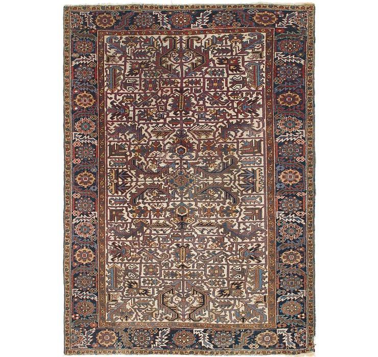 7' 7 x 10' 6 Heriz Persian Rug