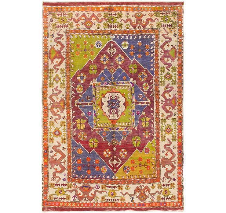 5' 2 x 7' 6 Anatolian Oriental Rug