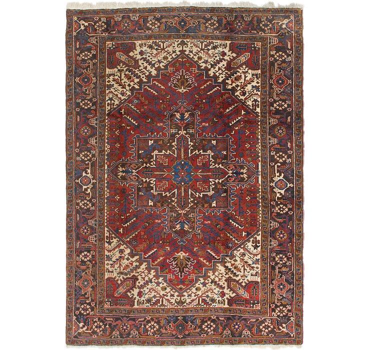6' 5 x 9' Heriz Persian Rug