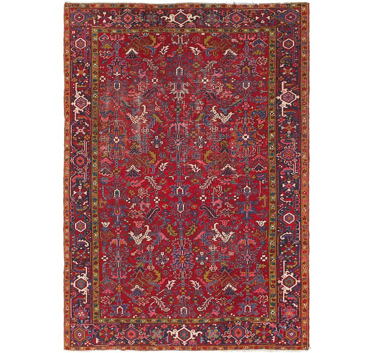 7' 9 x 11' Heriz Persian Rug