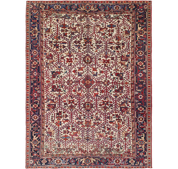 8' 6 x 10' 8 Heriz Persian Rug