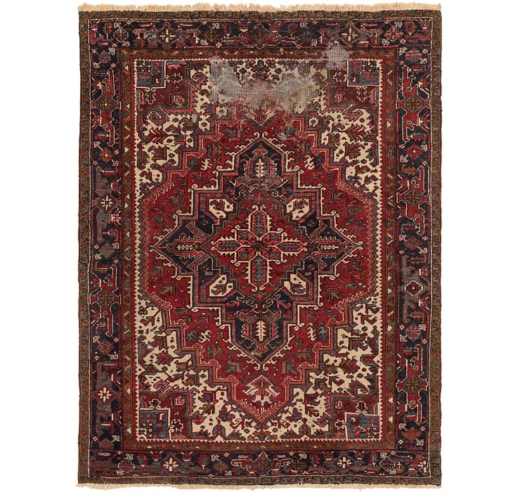 8' x 10' 3 Heriz Persian Rug