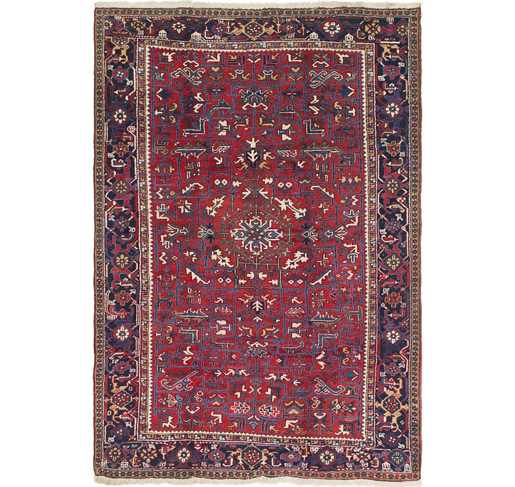 8' x 11' 2 Heriz Persian Rug