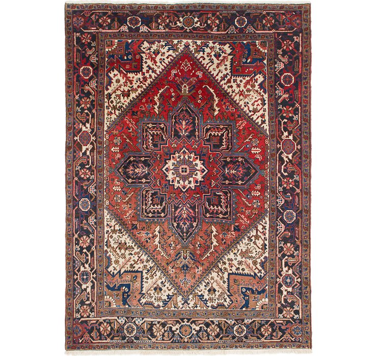 6' 6 x 9' 3 Heriz Persian Rug