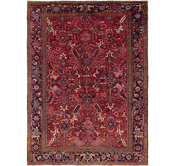 8' 7 x 11' 7 Heriz Persian Rug