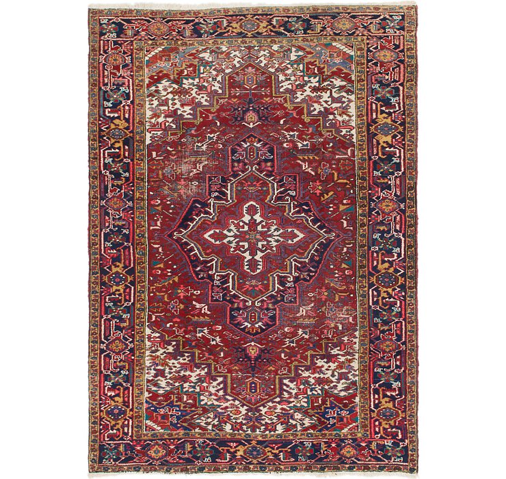 6' 7 x 10' Heriz Persian Rug