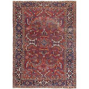 HandKnotted 7' 5 x 10' Heriz Persian Rug