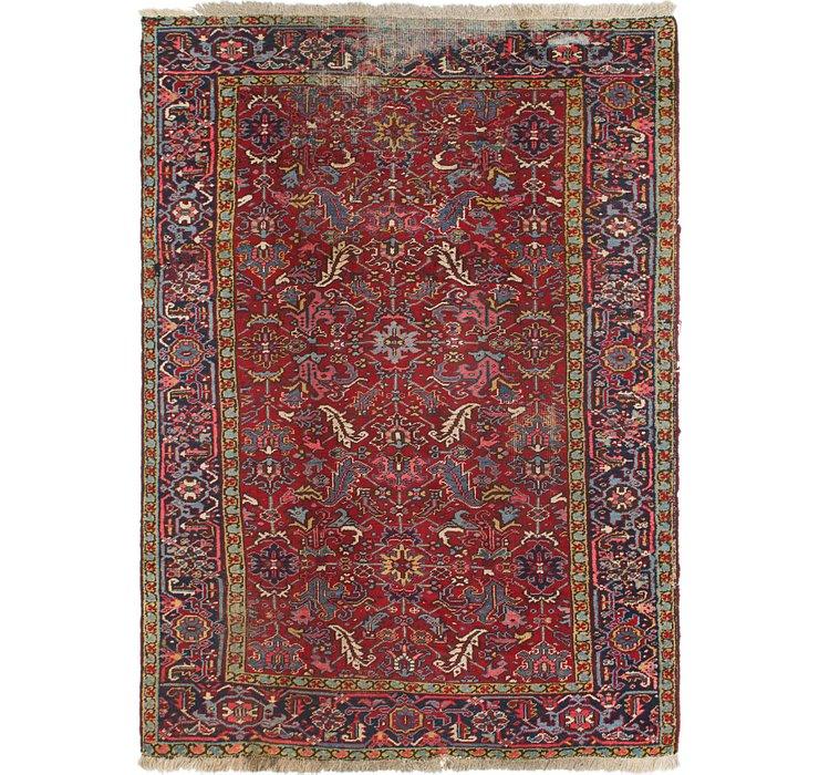 7' x 10' Heriz Persian Rug