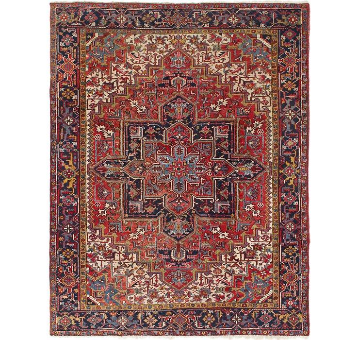 7' 9 x 9' 10 Heriz Persian Rug