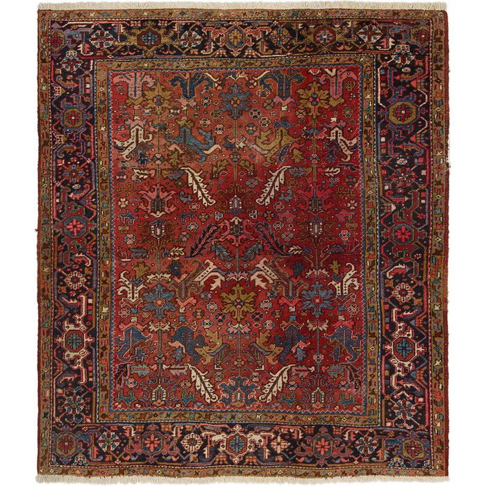 7' 7 x 8' 9 Heriz Persian Square Rug