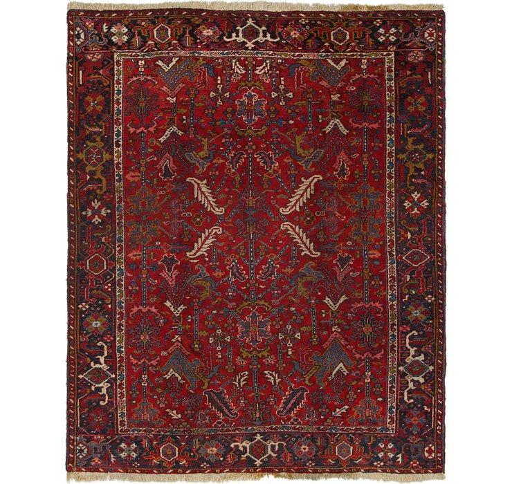 7' 9 x 9' 7 Heriz Persian Rug
