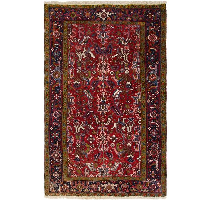 6' x 9' 3 Heriz Persian Rug