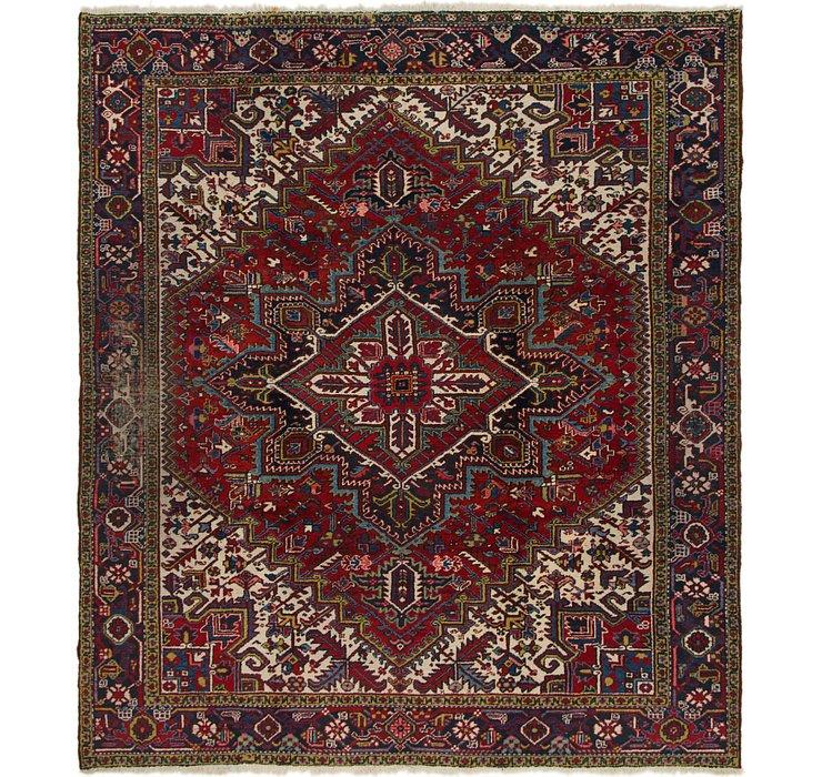 8' 6 x 9' 8 Heriz Persian Rug