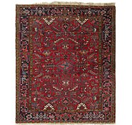 Link to 7' 6 x 8' 8 Heriz Persian Square Rug