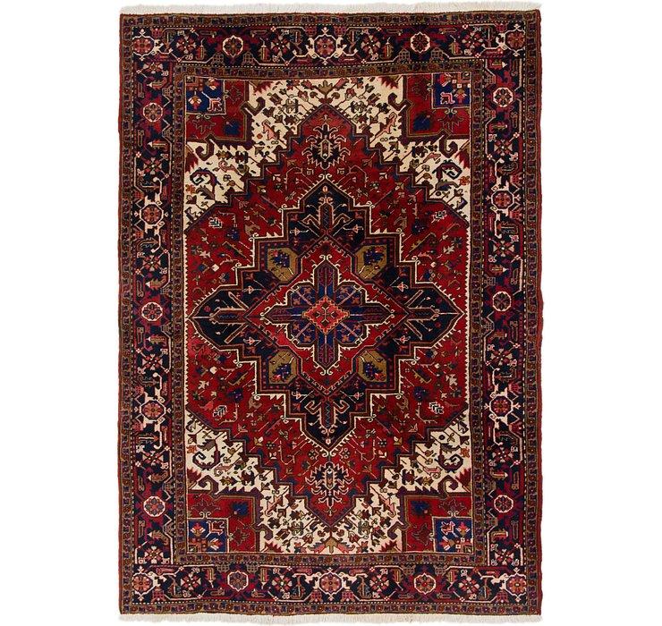 6' 6 x 9' 5 Heriz Persian Rug