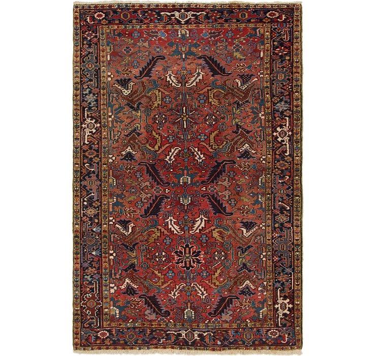 6' 3 x 9' 7 Heriz Persian Rug
