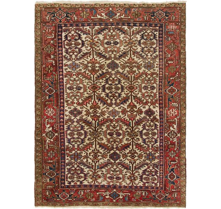 6' x 8' 3 Heriz Persian Rug