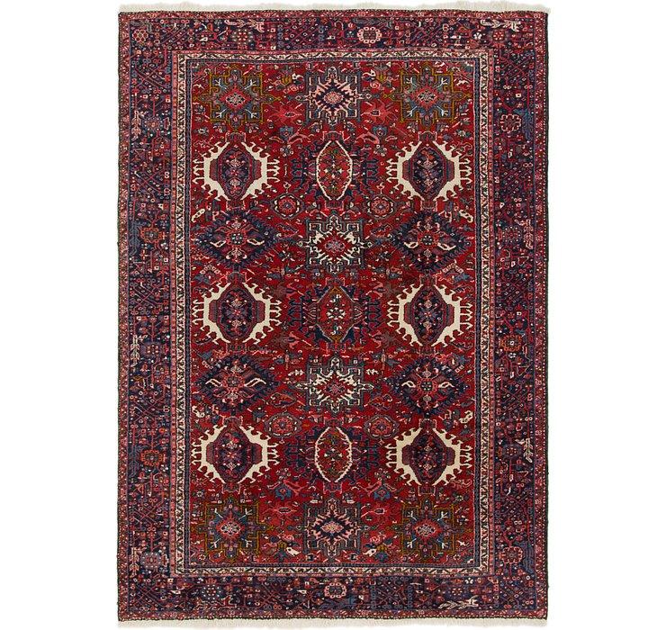 7' x 10' 2 Heriz Persian Rug