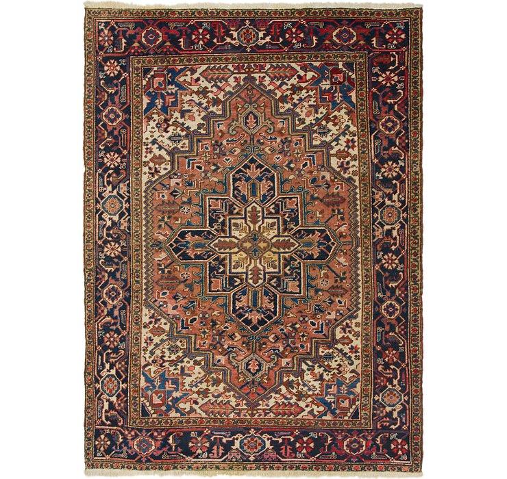 7' x 9' 4 Heriz Persian Rug